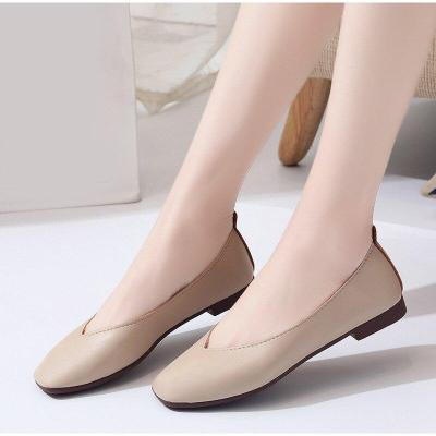Women's Slip On Casual Flat Moccasins Ladies Squared Toe Autumn Shoes Female Fashion 2018 High Quality Pu Concise Footwear