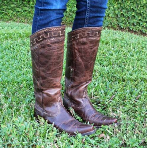 Faux Leather Fall Low Heel Zipper Daily Boots