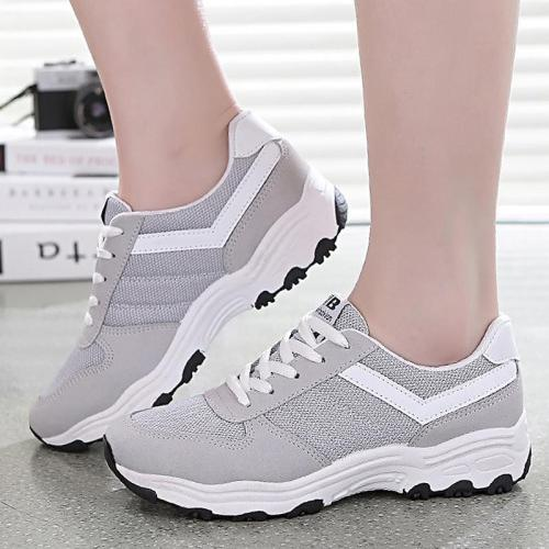 Women wedge platform shoes breathable fashion shoes sewing superstar causual shoes increase sneakers women non-slip zapatos