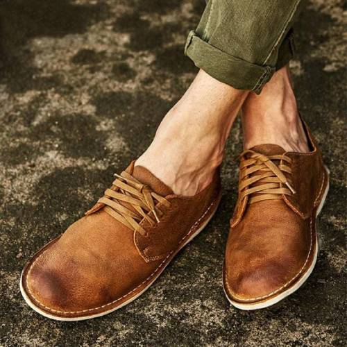 Vintage British Style Low Cut Desert Shoes Tooling Shoes