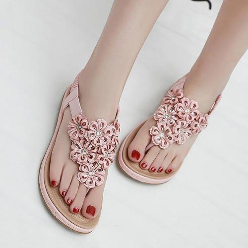 Women shoes  2019 new fashion rhinestone women sandals clip toe flip flops sandals women soft comfortable flats shoes woman
