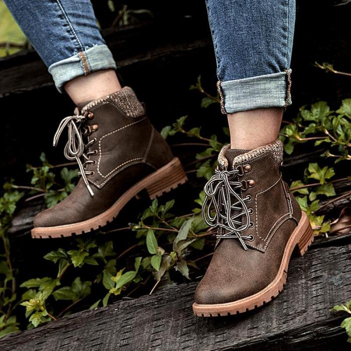 Apricot Women Closed Toe Chunky Heel Med (3-8Cm) Boots