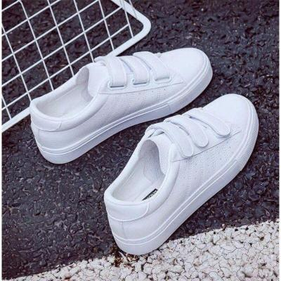 cuteshoeswearShoes Woman New Fashion Women Shoes Casual High Platform Hole PU Leather Striped Simple Women Casual White Shoes Sneakers