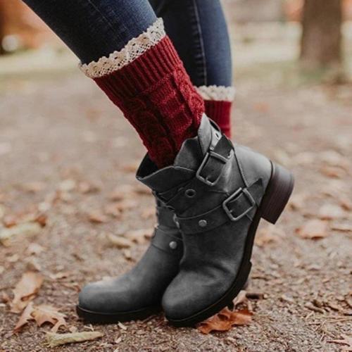 Women's Vintage Studded Comfort Boots
