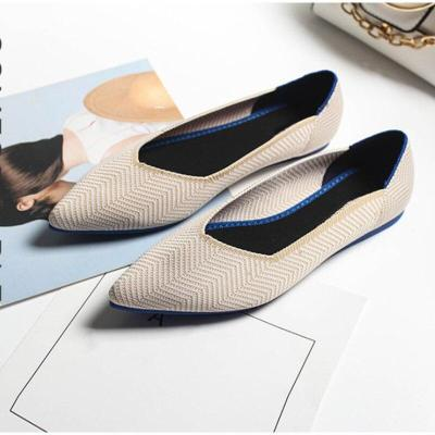 New Women Flats Shoes Mesh Loafers Breathable Comfortable Shallow Soft Sole Shoes Pointed Toe Autumn Casual Ladies Lazy Footwear
