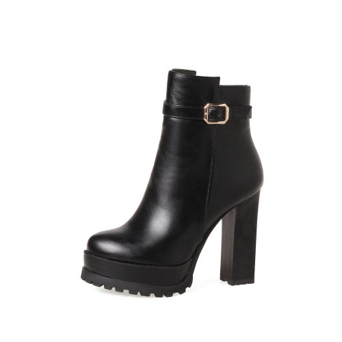 Women Shoes Winter Super High Heel Platform Short Boots