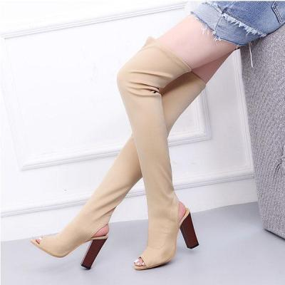 Long Tube Over The Knee Boots Thick Heels