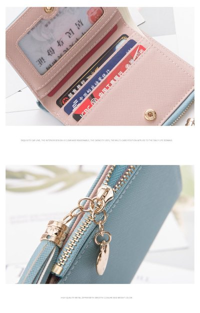 2020 Tassel Women Wallet Small Cute Wallet Women Short Leather Women Wallets Zipper Purses Portefeuille Female Purse Clutch