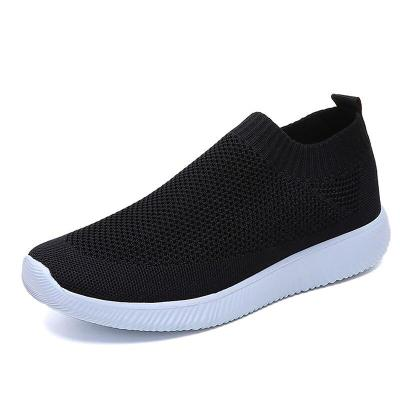 Women Shoes Sock Sneaker Women Slip On Knitting Breathable White Running Shoes Brand Women's Summer Footwear Soft