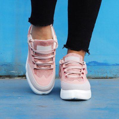 Womens Flat Heel Lace-Up All Season Date Sneakers