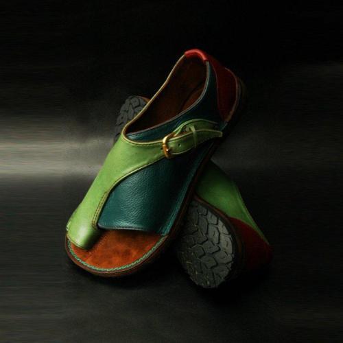 Summer Flat Heel Daily Buckle Sandals