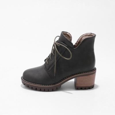 Women's Ankle Boots Lace Up Short Boots Shoes