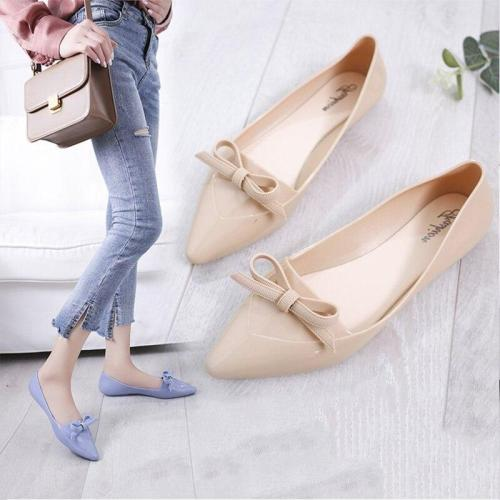 Women Spring Slip On Flat Shoes Woman Pu Leather Fashion Solid Pointed Toe Platform Female Party Shoes 36-40 Size New 2020