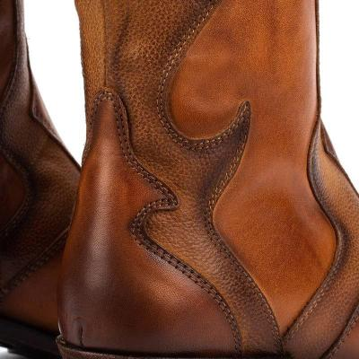 Vintage Daily Chunky Heel Split Joint Boots