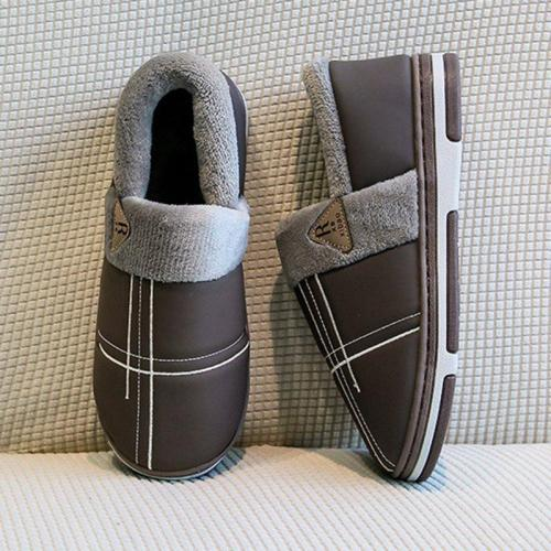 Slide Snow Boots Flat Heel Round Toe Warm Home Boots