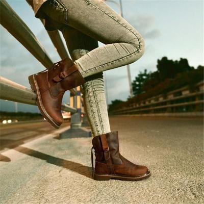 Women's Leather Martin Boots for Women's Vintage Cowboy Shoes