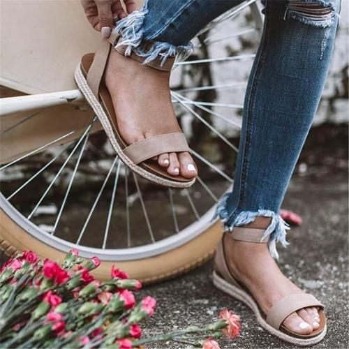 Hemp Buckle With Thick Bottom Roman Sandals