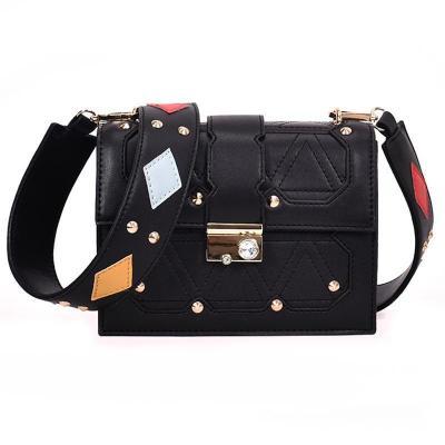 Fashion Casual Business Rectangle Rivet Leather Long Sleeve Bag