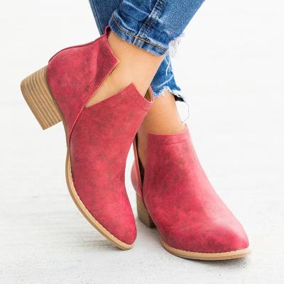 Women Closed Toe Low Heel Boots