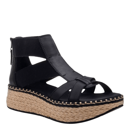 CANNONBALL in BLACK Wedge Sandals