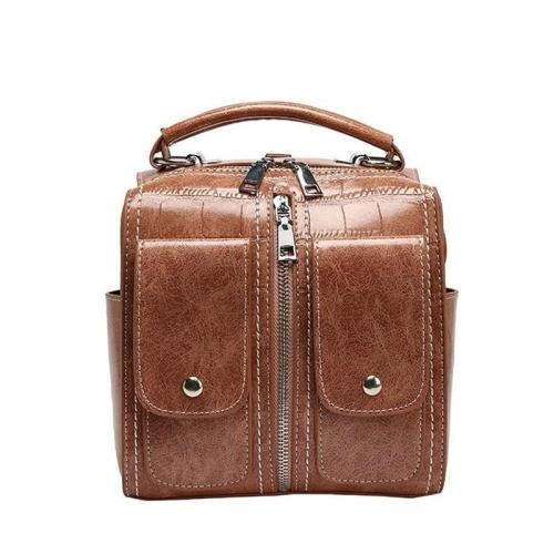2020 Women Leather Backpacks For Girls Sac A Dos Femme Female Multifunction Backpack Vintage Bagpack School Bags For Girls New