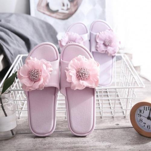 Women Summer Slipper Ladies Flip Flops Fashion Flower Breathable Non Slip Shoes Woman Slides Flats Colorful Casual Female 2020