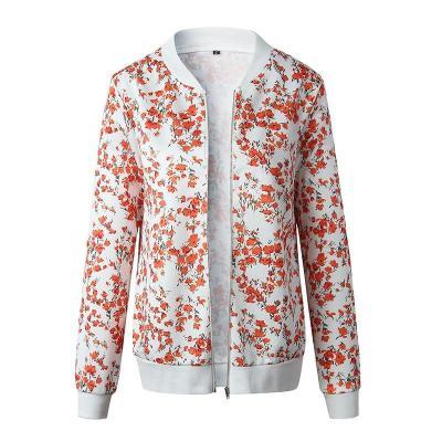 Duzeala Floral Printed Spring Women's Jackets Plus Size Short Female Coat Zipper Chaqueta Long Sleeve Summer Women Bomber Jacket