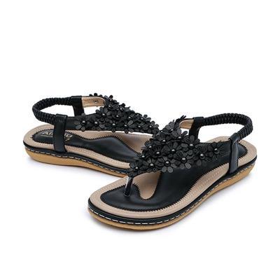Summer women sandals 2020 new arrival fashion shoes woman clip toe sandals women solid color outdoor women shoes plus size