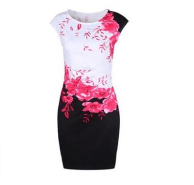 2020 Summer Plus Size Women Dress Casual Sleeveless ONeck Print Slim Office Dress Sexy Mini Bodycon Party Dresses Vestido