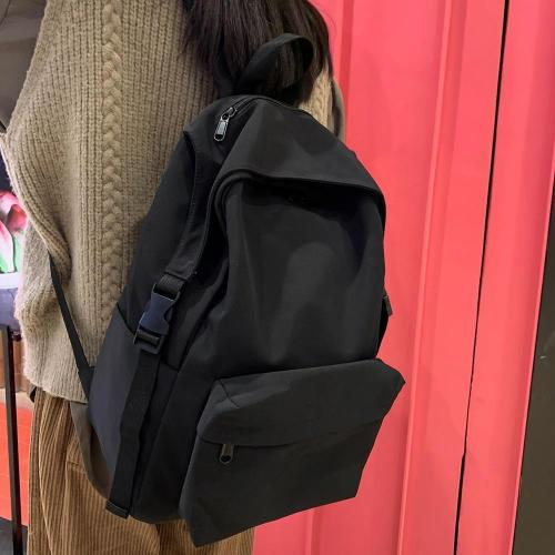 Fashion Waterproof Nylon Backpack Cute Women Luxury Buckle School Bag Girl Kawaii Backpack Harajuku Female Bag Ladies Book Brand