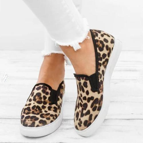 WENYUJH Flats 2020 New Fashion Leopard Women Casual Shoes Summer Flat Shoes Women Loafers Roman Shoes  Sneakers Slip On Loafers