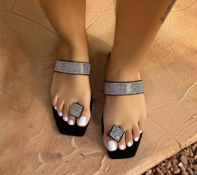 Women Shoes Summe Sandals casual Bright Diamond home silppers Jelly Shoes Female Flip Flops outdoor Beach Ladies SlidesSandals