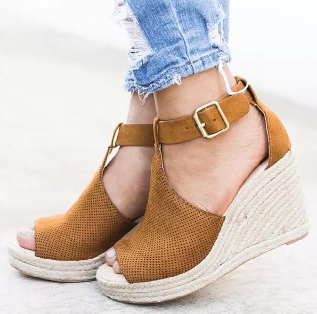 Summer Platform Sandals 2020 Fashion Women Sandal Wedges Shoes Casual Woman Peep Toe Platform Sandals Women Causal Shoes