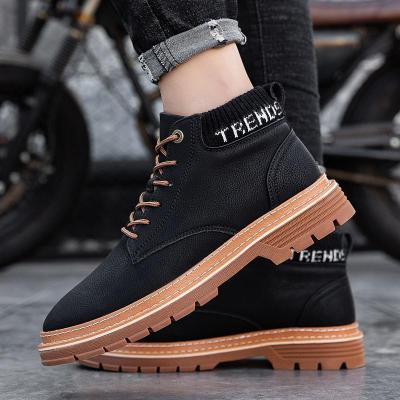Winter snow boots classic men's boots comfortable plus velvet thick warm cotton shoes high top Martin boots size 39-44