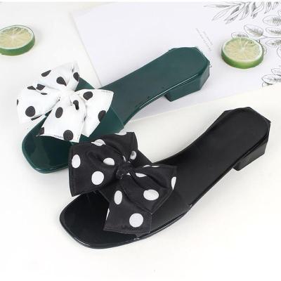 Women's Butterfly Knot Flat Sandals Ladies Bowtie Slipper Open Toe Summer Shoes Woman Sexy Party Beach Female Low Heel Footwear