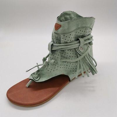 2020 Women's Sandals Shoes Tassels Clip Toe Flat Platform Gladiator Shoes Women Fashion Summer Female Casual Shoes Flip Flop