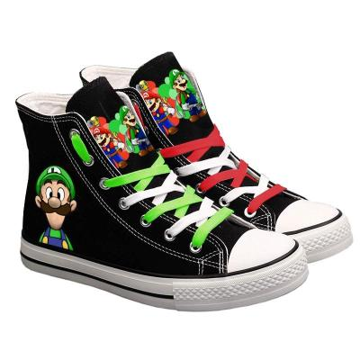 High quality Cute Super Mario Printed Sneakers Women Men Canvas Shoes Cartoon Casual Shoes Teenagers Boys Girls Sports Shoes