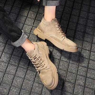 New Winter Men's Snow Boots Thick Plush Warm Man Ankle Boots 2020 Outdoor Waterproof Men Winter Sneakers Lace-Up Men Boots