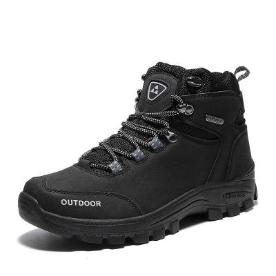 Brand Outdoor Male Hiking Boots Work Shoes 39-46 Men Winter Snow Boots Warm Super Men High Quality Waterproof Leather Sneakers