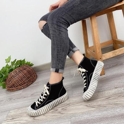 Johnature Women Sneakers Genuine Leather Lace-up Women Shoes Sewing Casual Handmade Concise 2020 New Winter Leisure Ladies Shoes