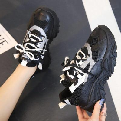 2020 Autumn Women Fashion Sneakers New Designers Chunky Platform Sneaker Woman Mesh Breathable Casual Shoes Tenis Basket Female