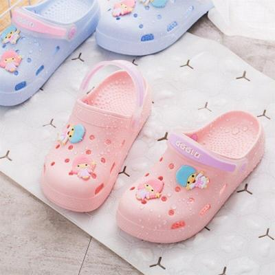 Women Slip On PVC Cute Cartoon Slippers Ladies Lace Up Back Strap Sandals Female Casual Light Platform Woman Summer Shoes 2020