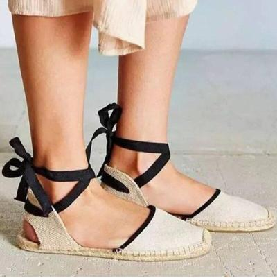 Tienda Soludos Espadrilles Shoes 2020 Summer Women's Strappy Off-duty Days Outsole Women Flats Gladiator Gingham Ankle Strap