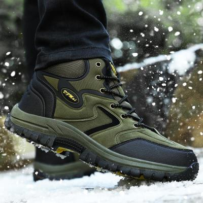 MINUSIKE Brand Super Warm Men's Winter Leather Men Waterproof Rubber Snow Boots Leisure Boots England Retro Shoes Men Big Size