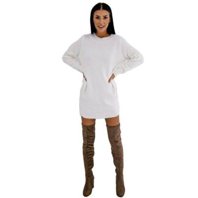 2020 Fashion Winter Plush Sweater Dress Women Casual Sexy Mini bandage Dress Female Party night Bodycon Christmas White clothing