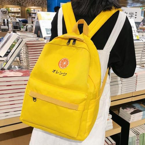 Student Female Embroidery Backpack Cute Women Nylon School Bags Girl Kawaii Backpacks Waterproof Book Fashion Ladies Teenage Bag