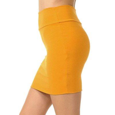Womens Skirts Plus Size High Waist Classic Simple Stretchy Tube Pencil Mini Sexy Skirt Faldas Mujer Moda 2020 Miniskirt New #yj