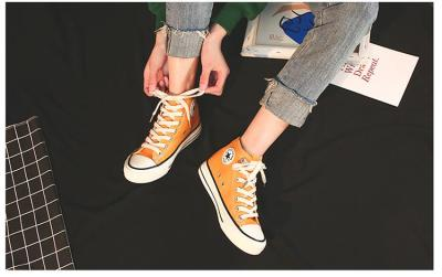Women Canvas Shoes new White Shoes Lace Up Flats Women Vulcanized Shoes Female Casual Shoes tenis zapatillas mujer K1-41