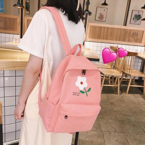 Student Female Flower Backpack Cute Women Canvas School Bags Girl Kawaii Backpacks Book Fashion Luxury Teenage Bag Lady 2019 new