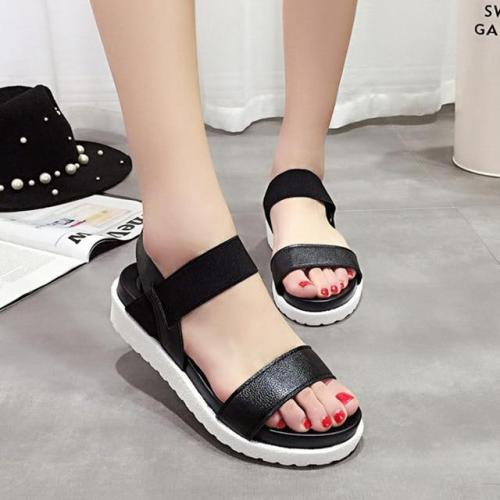 Women sandals 2020 new peep-toe sandals women shoes summer roman ladies flip flops footwear sandals shoes